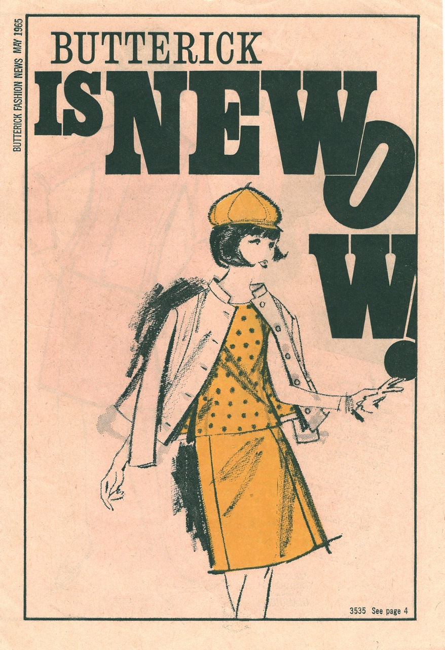 Butterick Fashion News May 1965