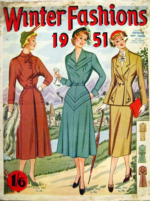 Australian Home Journal Winter Fashions 1951