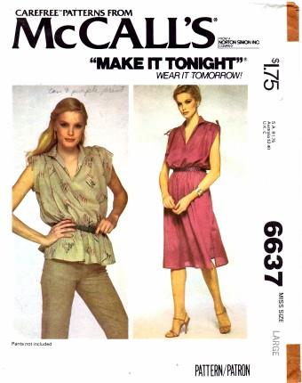 McCall's 6637 A
