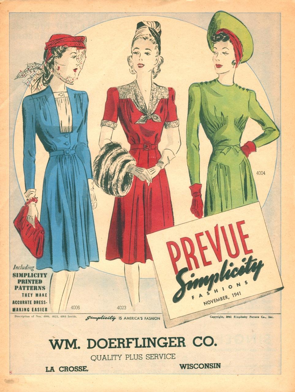 Simplicity Prevue November 1941