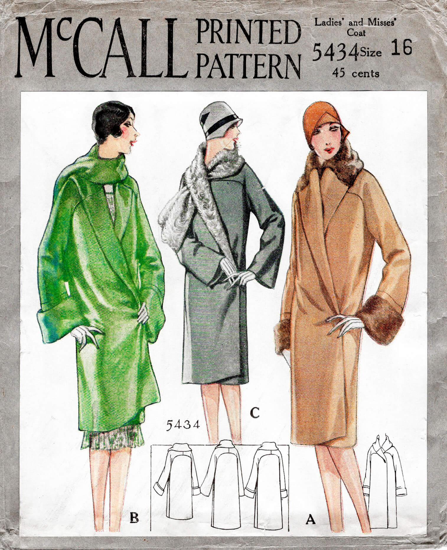 McCall 5434 A
