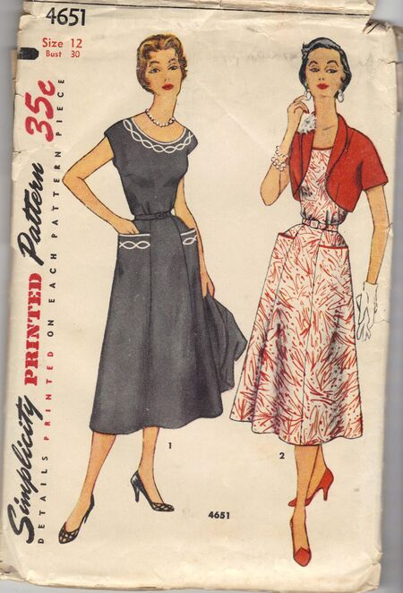 Misses' and Women's One-Piece Dress and Jacket, Transfer Included