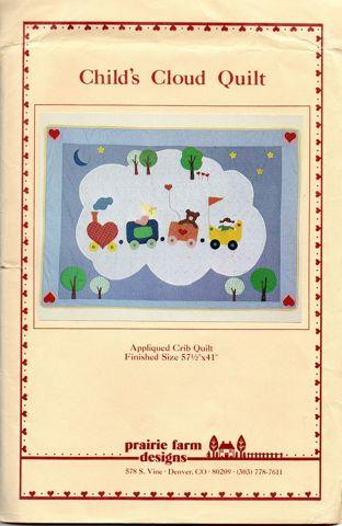 Prairie Farm Designs Child's Cloud Quilt