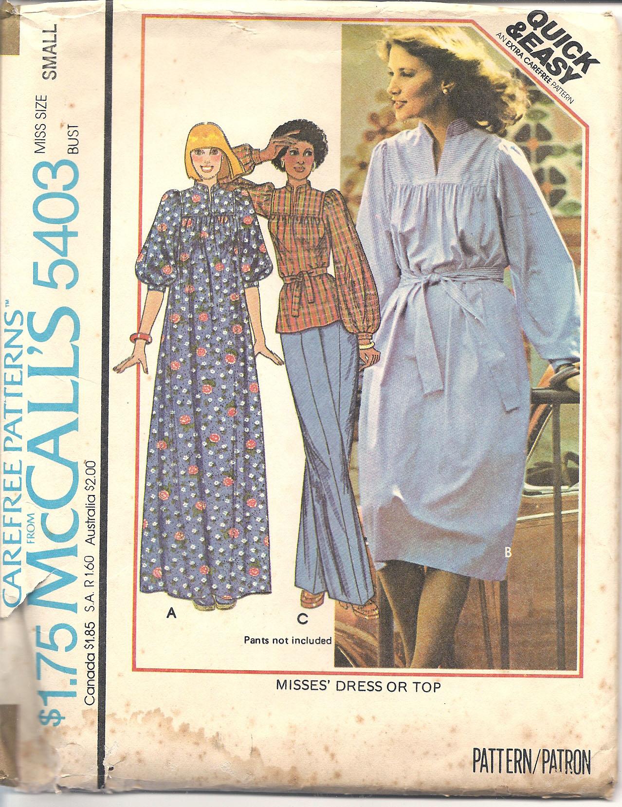 McCall's 5403 A
