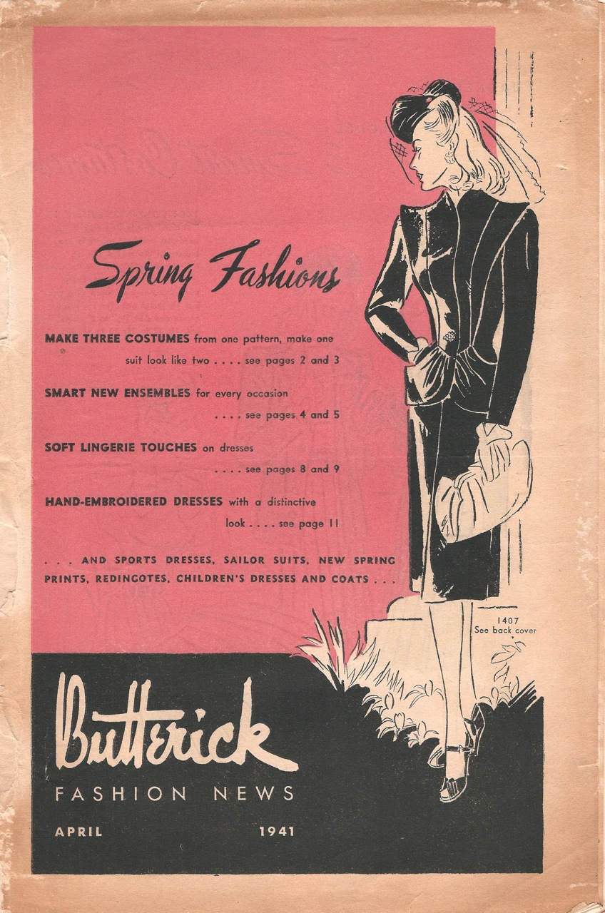 Butterick Fashion News April 1941
