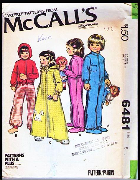 McCall's 6481 A
