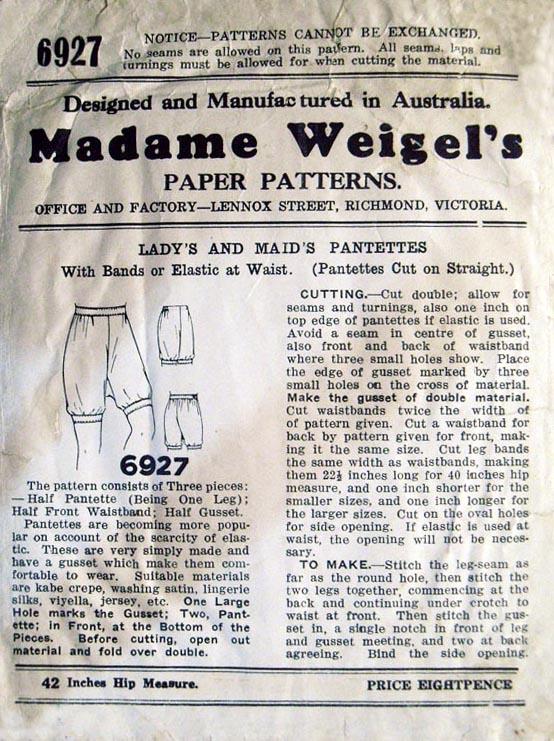 Madame Weigel's 6927