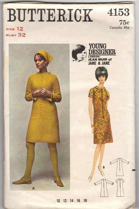 Butterick 4153 Young Designer Jean Muir of Jane