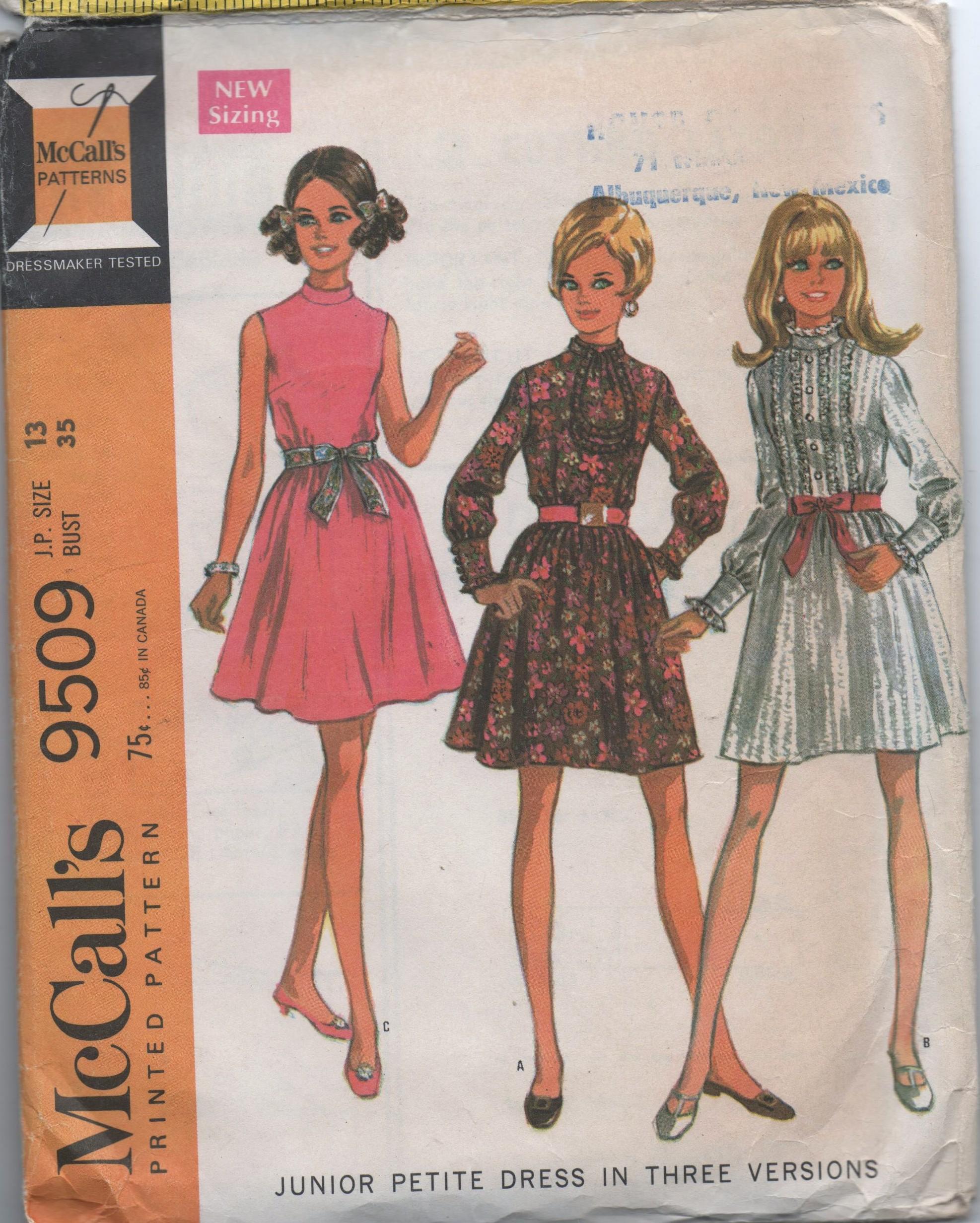 McCall's 9509 A