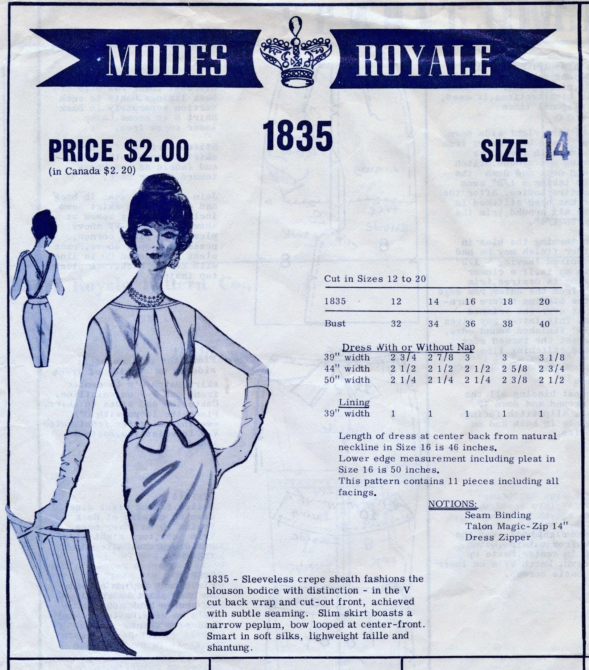Modes Royale 1835