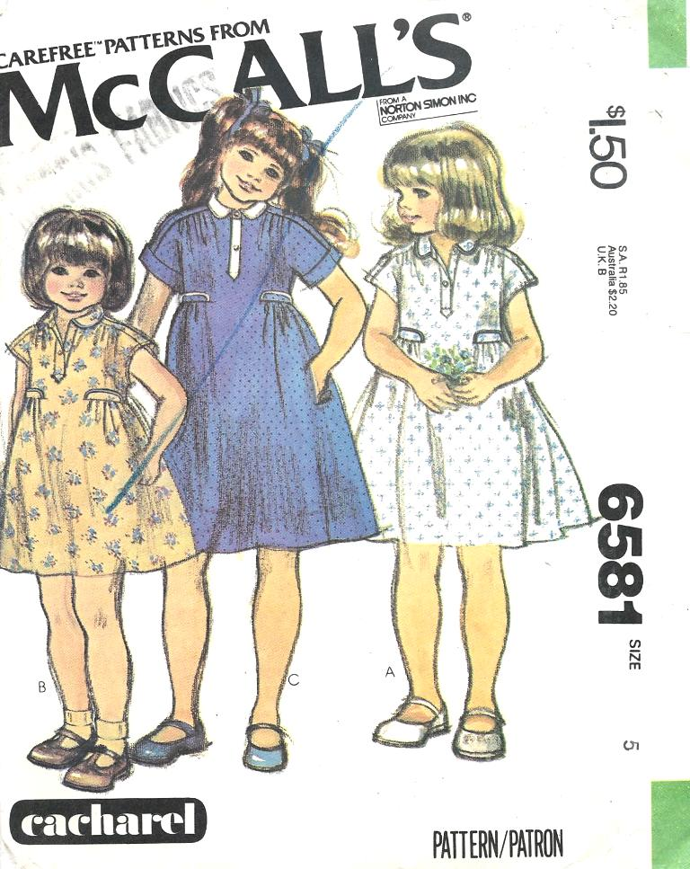 McCall's 6581 A