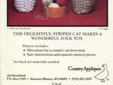 Country Appliques Country Cat