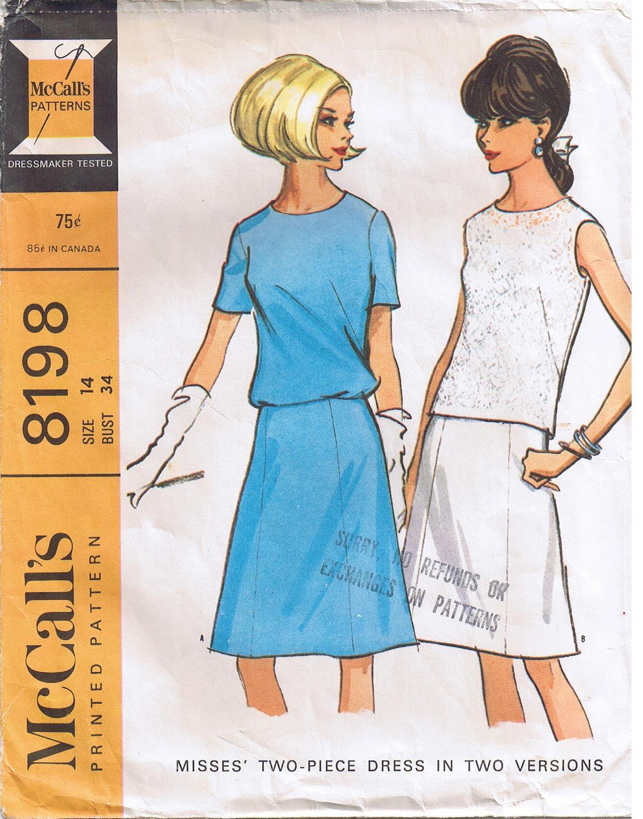 McCall's 8198 A
