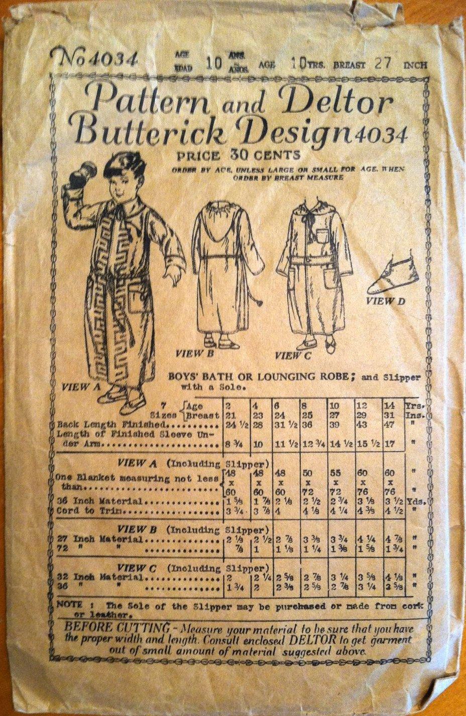 Butterick 4034 A