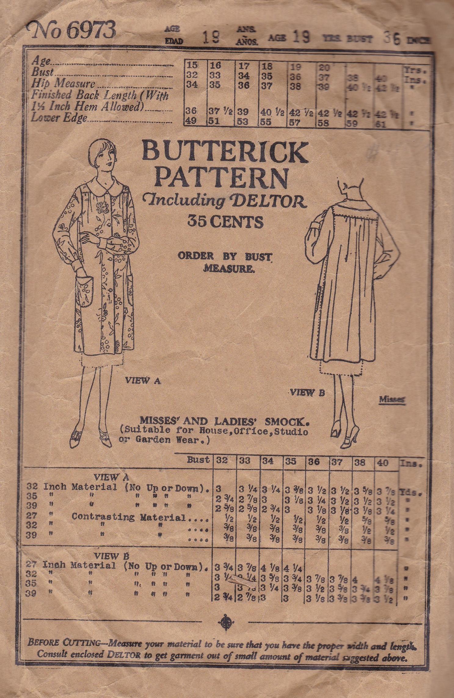 Butterick 6973 B