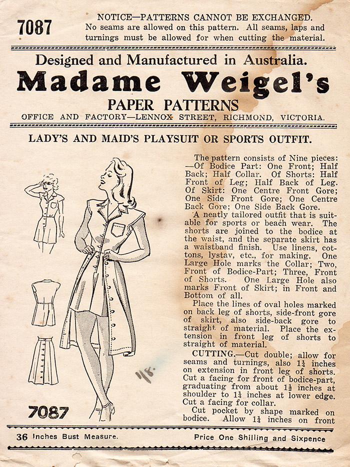 Madame Weigel's 7087
