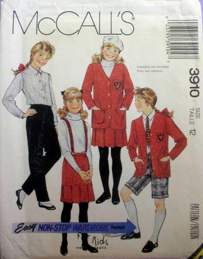 McCall's 3910 B