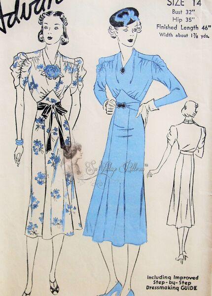 Advance 1821;ca.1930s; Ladies Dress.