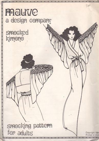 Mauve Smocked Kimono