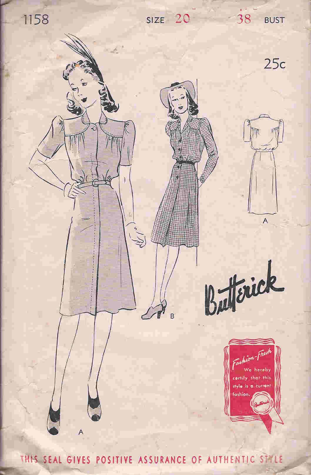 Butterick 1158