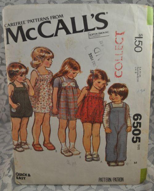 McCall's 6505 A
