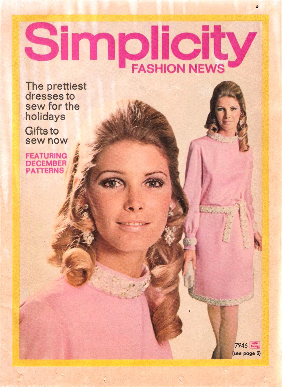 Simplicity Fashion News December 1968