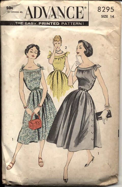 Advance 8295 Misses' Dress