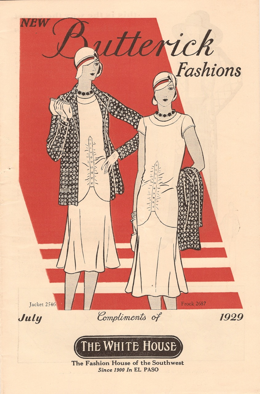 Butterick Fashions July 1929