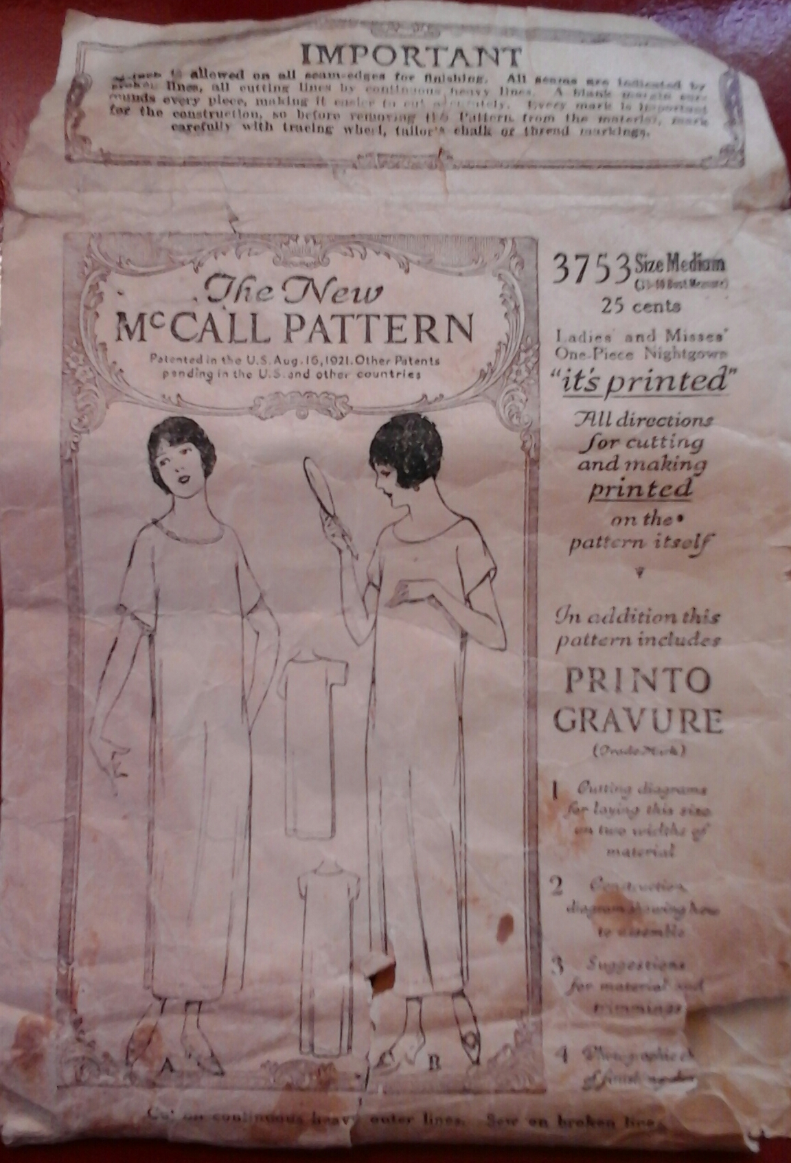 McCall 3753 A