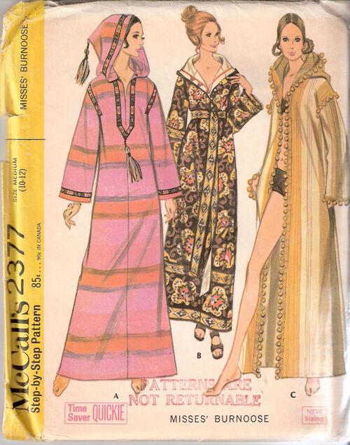 Burnoose or Hooded Caftan or Hooded Abaya or Hooded Coat