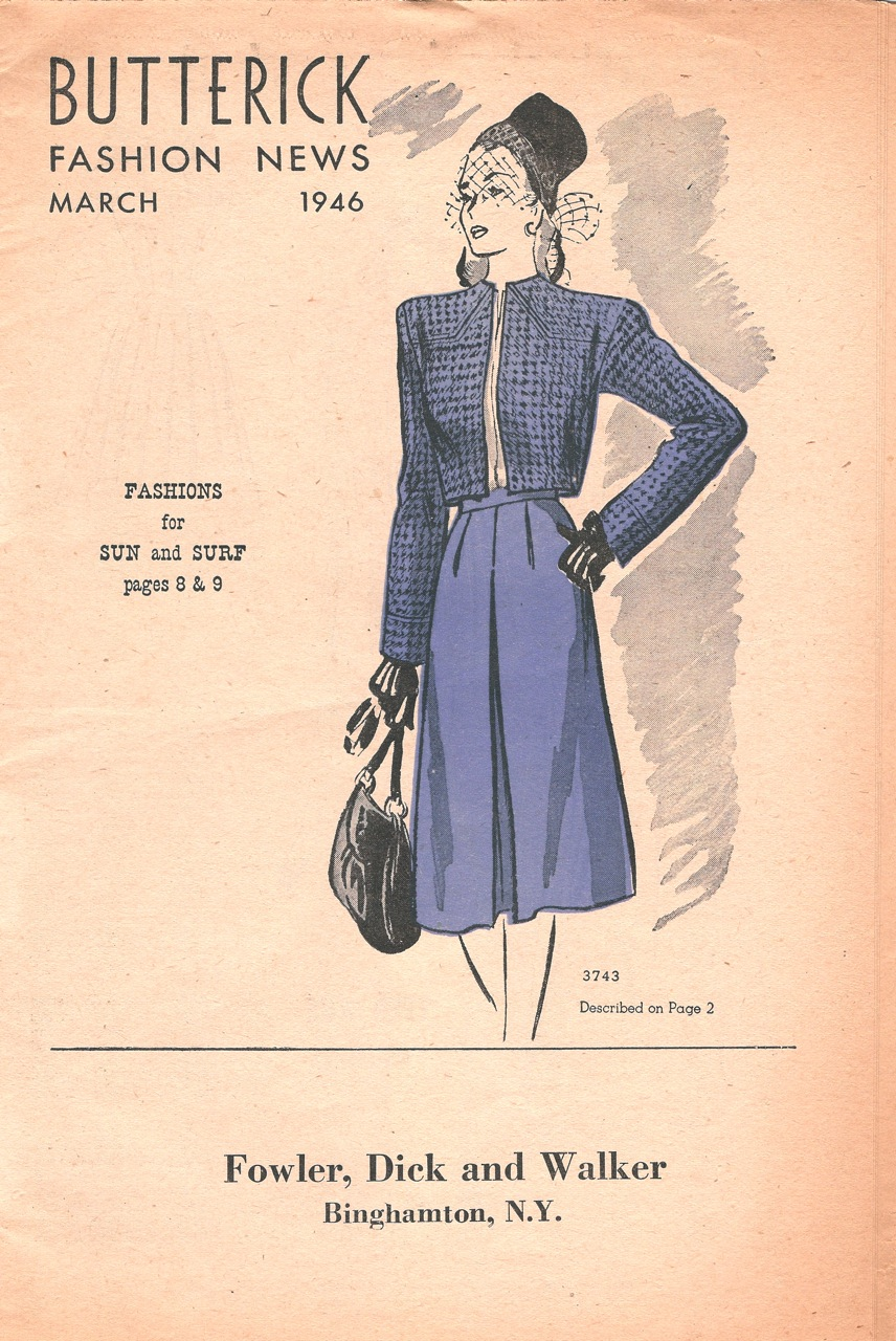 Butterick Fashion News March 1946