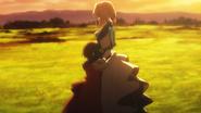 Anne and Violet hug