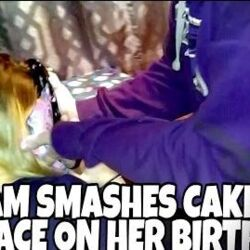 KID SMASHES CAKE IN SISTERS FACE ON HER BIRTHDAY!!!