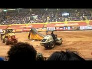 Advance Auto Parts Monster Jam 2011 part 2, setting up for Freestyle Mania