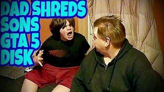 DAD_SHREDS_SONS_GTA_5_DISK!!!