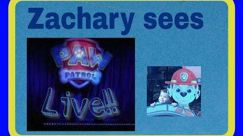 Zach Attack: Zachary goes to see Paw Patrol Live Part 1