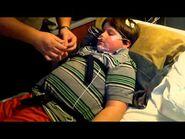 William participates in a sleep study preperation-2