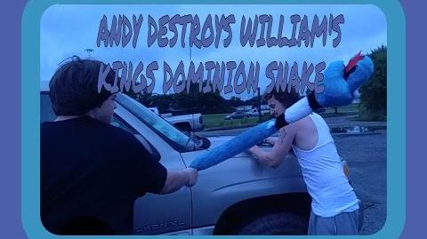 ANDY DESTROYS WILLIAM'S KINGS DOMINION SNAKE