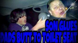SON_GLUES_DADS_BUTT_TO_TOILET_SEAT!!!_(Prank)