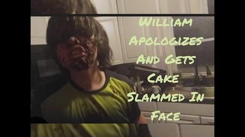 FURIOUS FATHER SMASHES CAKE IN WILLIAMS FACE