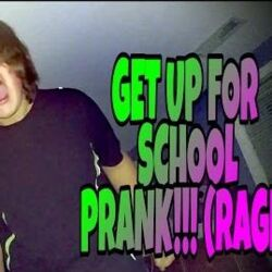 GET UP FOR SCHOOL PRANK!!! (RAGE)