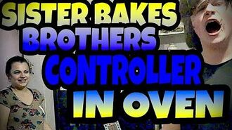 SISTER_BAKES_BROTHER'S_XBOX_CONTROLLER_IN_OVEN_INSIDE_CAKE!!!