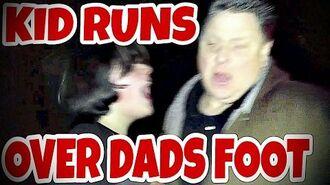 KID_RUNS_OVER_DAD'S_FOOT_IN_TRUCK!!!_(RAGE)