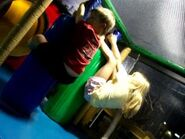 William and Kelsey play at McDonald's playland