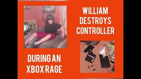 WILLIAM DESTROYS CONTROLLER DURING AN XBOX RAGE
