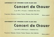 Glee Club 1977 Tour French Cathedrals Flyers
