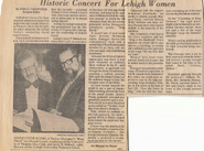 1977 04 VGC Historic Concert For Lehigh Women