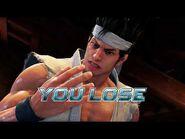 Virtua Fighter 5 Ultimate Showdown - Akira Yuki (Game Over & Continue)
