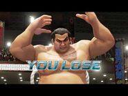 Virtua Fighter 5 Ultimate Showdown - Taka-Arashi (Game Over & Continue)