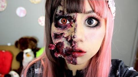 Maquillaje_Zombie_♥_Miku,_muñeca_zombie